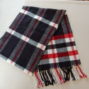 Accessories - Unisex Black & Red Plaid Scarf